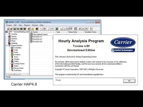 Tutorial#16 How to calculate HVAC heat load using HAP software