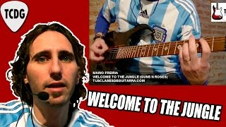 Como tocar Welcome to the Jungle En Guitarra (Guns N Roses) Tutorial #1 TCDG