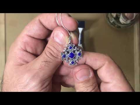 SA1792-LP - AHARONI Silver 925 Jerusalem Cross Pendant