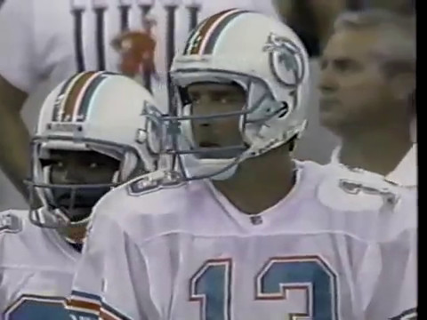 1993 Wk 01 Dolphins Defeat Colts 24-20; Highlights With Radio Call