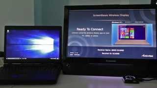 Windows 10 Miracast Wireless Display setup and use