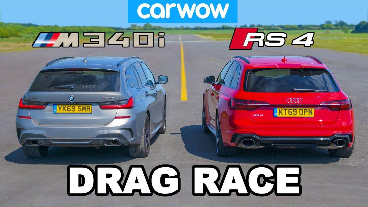 Download BMW M340i v Audi RS4: DRAG RACE * shock result *