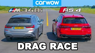 BMW M340i v Audi RS4: DRAG RACE * shock result *