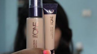 Oriflame The One- Illuskin foundation and concealer- Review, demo and price in India