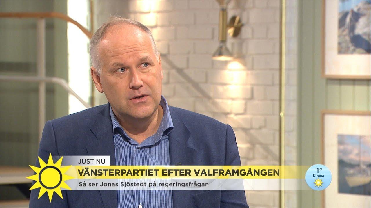 """Jonas Sjöstedt om regeringsfrågan: """"Det här blir ett drama i flera akter"""" - Nyhetsmorgon (TV4)"""