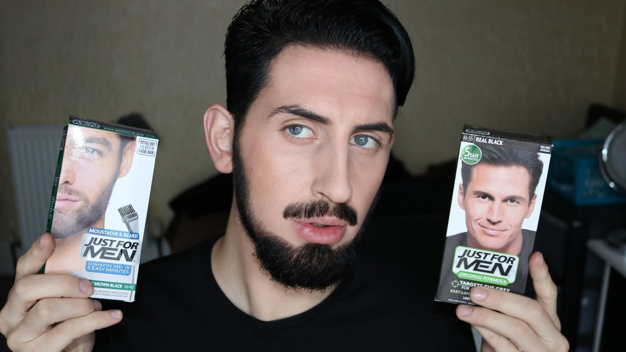JUST FOR MEN 5 MINUTES HAIR + BEARD DYE - YouTube
