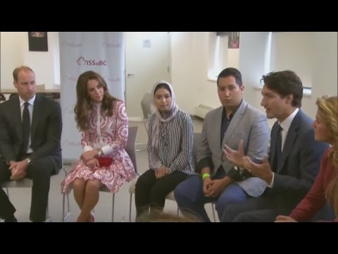 Will and Kate visit refugee centre on their Canadian trip