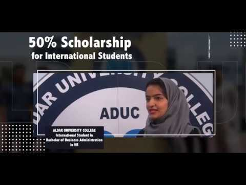 50% Scholarship from ALDAR University College in Dubai for International Students