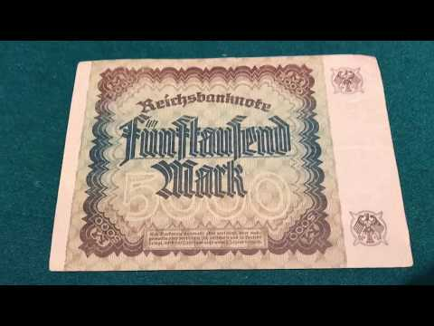 German Bank Notes & Coins From 1920