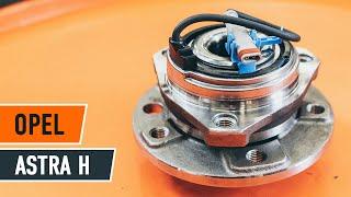 Kuinka vaihtaa etupyöränlaakerit OPEL ASTRA H Sedan -merkkiseen autoon [AUTODOC -OHJEVIDEO]