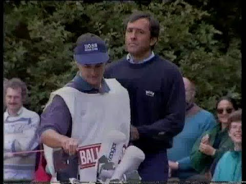Seve Ballesteros last 3 holes of 3rd round 1994 Dunhill British Masters
