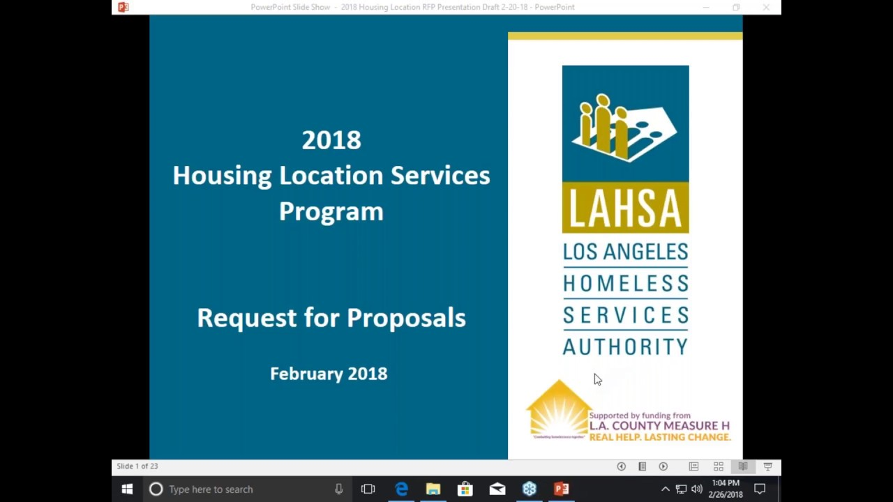 2018 Housing Location Services Program RFP