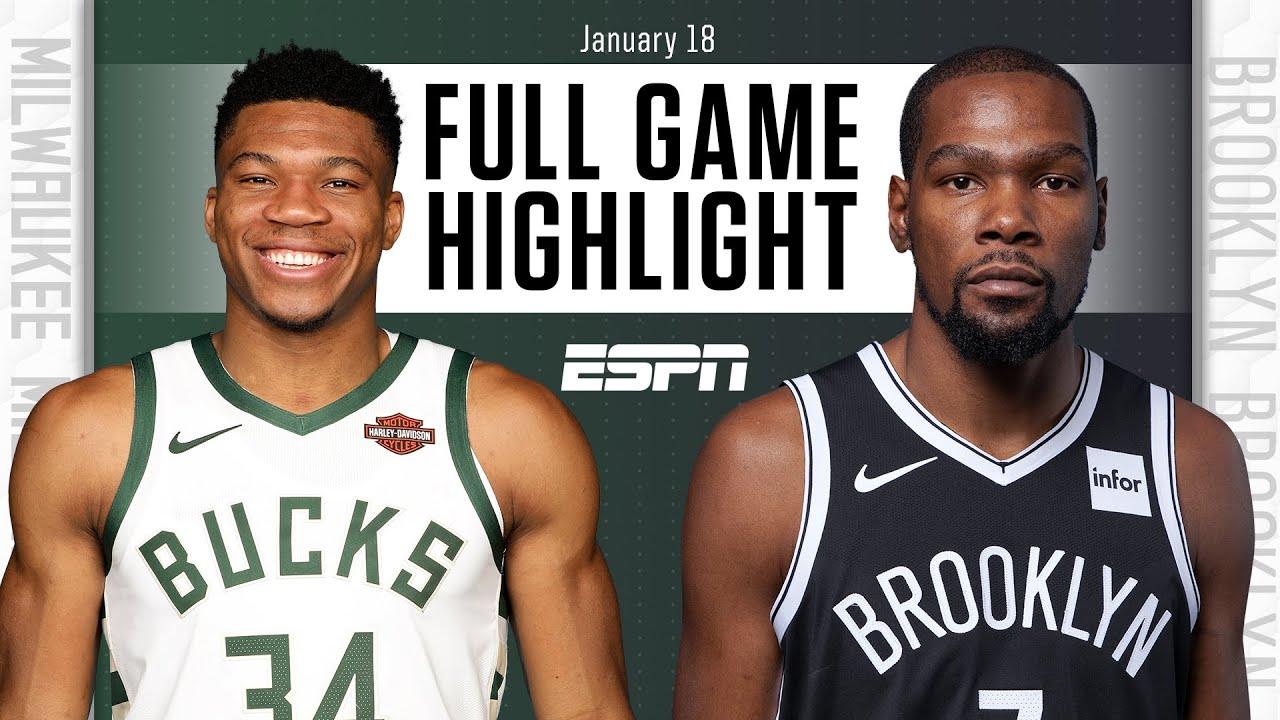 Bucks vs. Nets - Game Recap - January 18, 2021 - ESPN