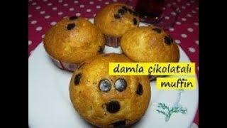 damla çikolatalı muffin kek