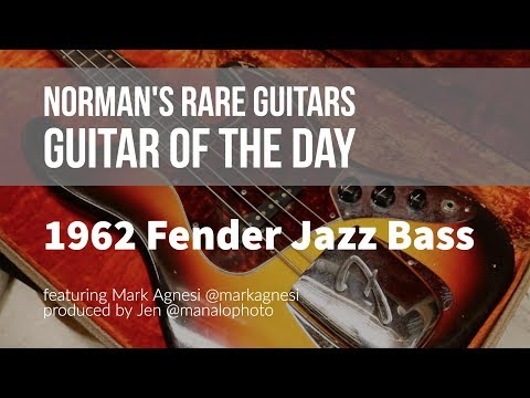 Norman's Rare Guitars - Guitar of the Day: 1962 Fender Jazz Bass