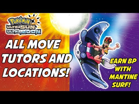 All Move Tutors and Locations in Pokémon Ultra Sun and Ultra Moon! How to Earn BP!