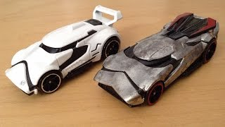 Hot Wheels Star Wars Character Cars 2-Pack: First Order Stormtrooper & Captain Phasma