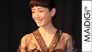 宮沢りえ、黒のシースルードレスで華やかに 映画「ジャングル・ブック」歌舞伎座プレミア