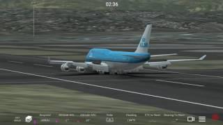¡Perfecto Aterrizaje Con Este Gigante Del Aire! Boeing 747-4 de KLM Aterrizando en SKFO