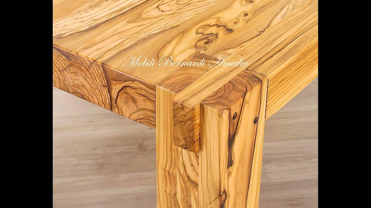 Tavoli stile moderno in legno massiccio grosso spessore - YouTube
