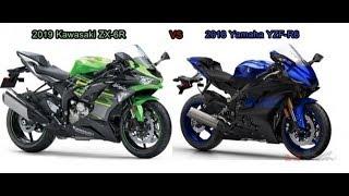 Tin nhanh 24/7 - So sánh giữa Kawasaki ZX-6R 2019 và Yamaha R6 2018.