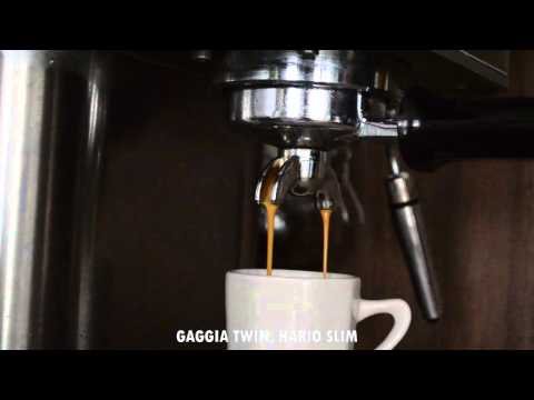 gaggia baby twin hario slim double espresso youtube. Black Bedroom Furniture Sets. Home Design Ideas