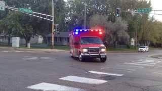 White Bear Lake MN Fire Ambulance 2 Responding, 10/19/13 - *Code 3*