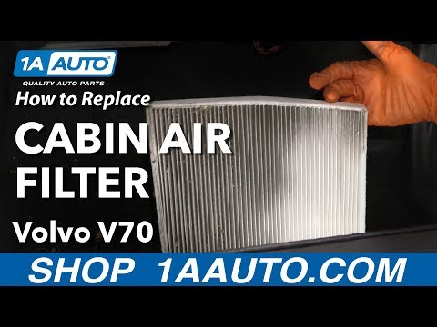 How to Replace Cabin Air Filter 01-07 Volvo V70