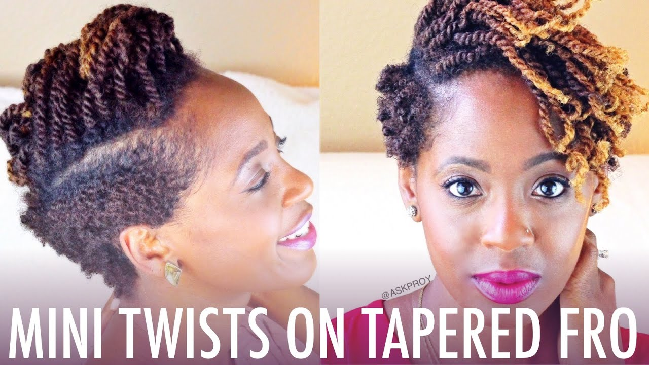 Styling Tapered Natural Hair Mini Twists On Natural Hair  Style Tutorial  More Style .