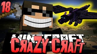 Minecraft CRAZY CRAFT 18 - How To Tame a Dragon (Minecraft Mod Survival)
