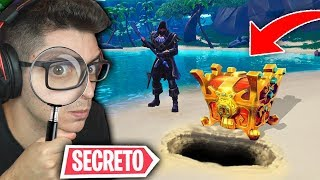 I FOUND THE SECRET TREASURE!! NEW SUPER FORTNITE CHEST!!