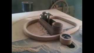 Rocking Chair Back Sanding Process