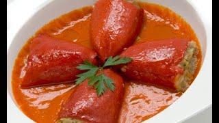 Receta de pimientos rellenos en salsa de piquillo – Karlos Arguiñano