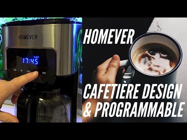 ☕ Vlog 1ères impressions sur la Cafetière HOMEVER Programmable (heure de début et force du café)