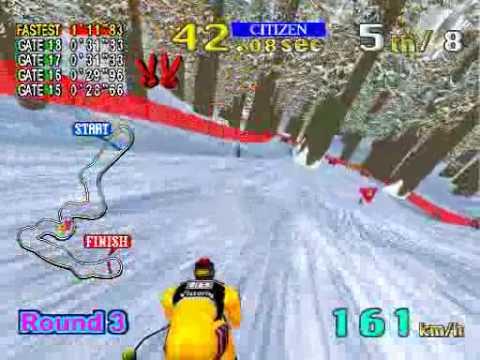 78d84603abb7 Model 2 Emulator Sega Ski Super G Gameplay - YouTube