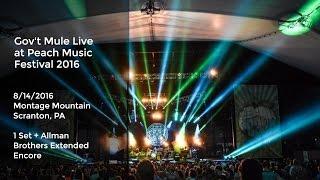 Repeat youtube video Gov't Mule Live at the Peach Festival 8/14/2016 w/ Extended Allman Bros Encore