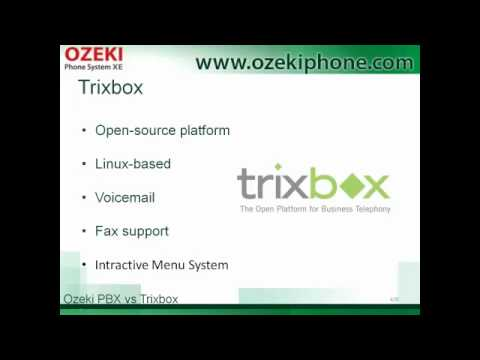 Trixbox vs Ozeki PBX, Advantages and Disadvantages of Two Different VoIP  PBX Systems