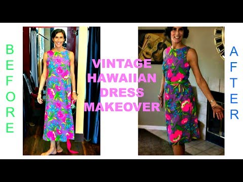 Vintage Hawaiian Dress Makeover ~ Resale Transformation