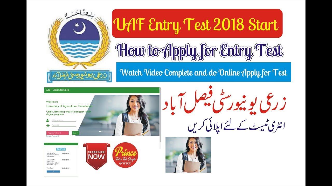 UAF Undergraduate Admission Test 2018 is Start - YouTube