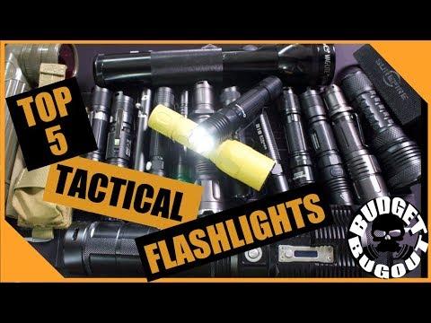 Top 5 Best Tactical Flashlights -- Home Defense, EDC, & LE