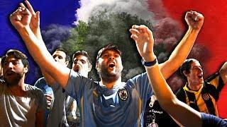 КАК ФАНАТЫ ПОПРОЩАЛИСЬ С ГОРОДОМ! Французские и Уругвайские болельщики. French fans.