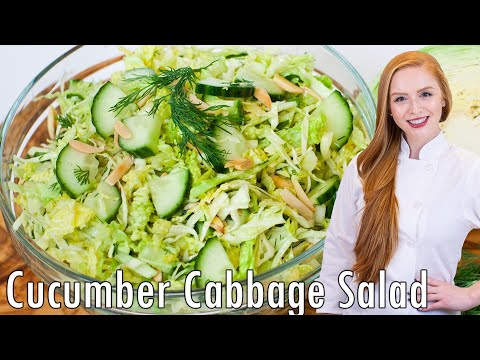 Cucumber and Cabbage Salad