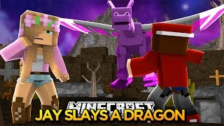 Minecraft : LITTLE KELLYS BOYFRIEND SLAYS A DRAGON!