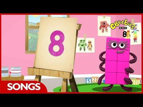 Numberblocks Songs   Let's All Draw Numbers   CBeebies
