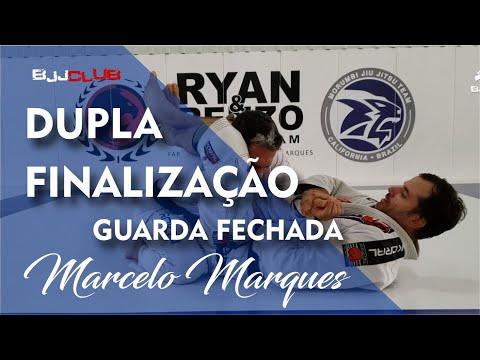 Dupla Finalização da Guarda Fechada com Marcelo Marques - Jiu Jitsu - BJJCLUB