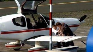 Ein Besuch mit dem Sportflugzeug am Flugplatz EDVY in Porta Westfalica