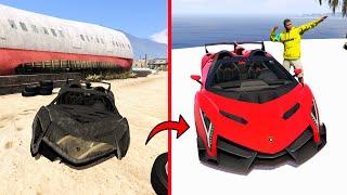 GTA 5: Repairing Broken SUPER CAR into LAMBORGHINI ROADSTER in GTA 5! screenshot 3