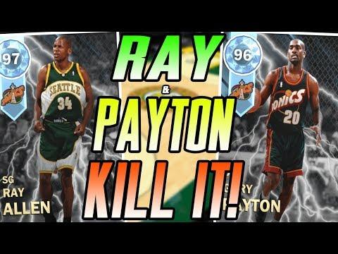NBA 2K18 MYTEAM DIAMOND RAY ALLEN & GARY PAYTON GAMEPLAY! WE PLAY #2 RANKED IN THE WORLD!