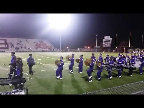 Sunset HS band and Bisonettes March off field end of game 11.4.17