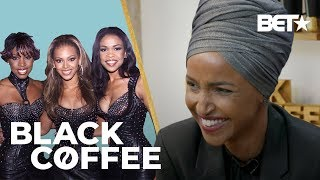 Rep. Ilhan Omar Spills What Song Gets Her Hype & Her Binge-Worthy Shows! | Black Coffee